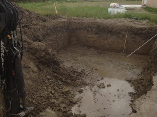 Avancement du terrassement avant le drainage