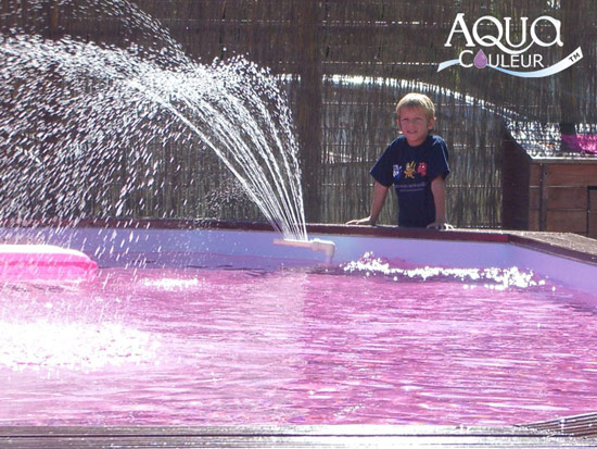 colorant pour piscine couleur lavande - Colorant Piscine