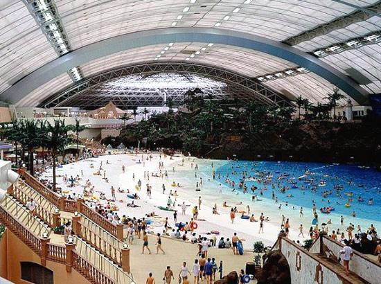 la plus grande piscine couverte du monde oceandome. Black Bedroom Furniture Sets. Home Design Ideas