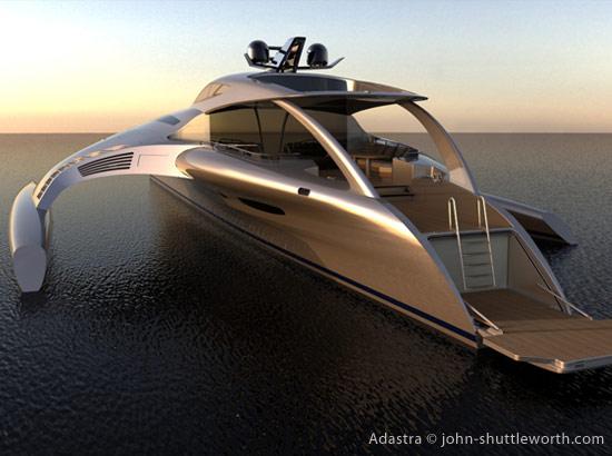 Trimaran futuriste yacht de luxe design adastra for Bateau de luxe interieur