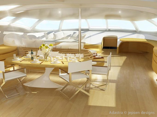 trimaran futuriste yacht de luxe design adastra. Black Bedroom Furniture Sets. Home Design Ideas