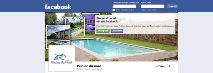 Fan page officielle Piscine du Nord sur Facebook