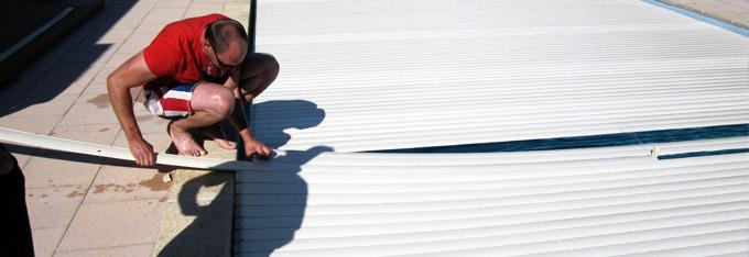Assurance piscine pour remplacement de lames de volet automatique