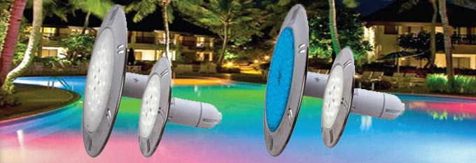 Projecteur spot à led (blanc ou couleur) haute luminosité pour éclairage piscine